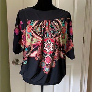 Marc Bouwer Floral Motif tunic top Size Medium